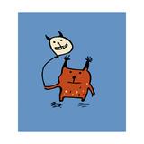 Little Orange Monsters Giclee Print by Carla Martell