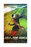Le Golf de Font Romeau Giclee Print
