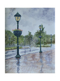 Lamp Posts Giclee Print by Rusty Frentner