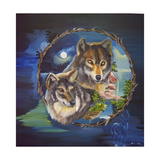 Magical Wolves Giclee Print by Sue Clyne