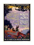 La Route Des Alpes Giclée-tryk