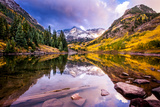 Maroon Bells Photographic Print by Dan Ballard