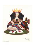 King of Diamonds Giclee Print by Jenny Newland
