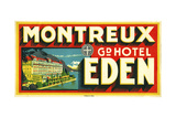 Montreux Grand Hotel, Eden Giclee Print