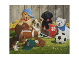 Let's Play Ball Giclee Print by William Vanderdasson