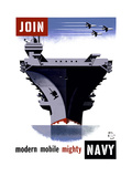 Join the Navy, Modern Mobile Mighty Giclee Print