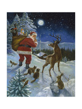 Moonlight Delivery Giclee Print by Hal Frenck
