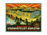 Luggage Stadshotellet-Karlstad Giclee Print