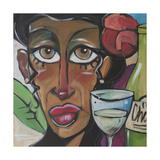 Island Girl with Wine Giclee Print by Tim Nyberg
