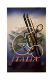 Italia Skis Anchor Mountains Giclee Print