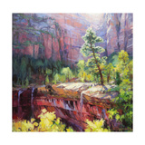 Last Light in Zion Giclee Print by Steve Henderson