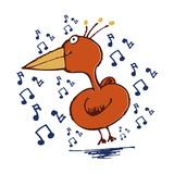 Music Bird Giclee Print by Carla Martell