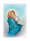 Mary Holding Jesus Giclee Print by Christo Monti