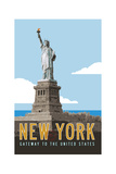 New York Travel Poster Giclee Print by Michael Jon Watt