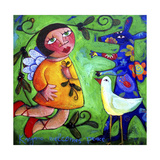 Kangaroo Welcomes Peace Giclee Print by Sara Catena