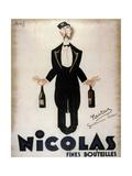 Nicolas Fines Bouteilles Giclée-tryk