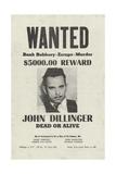 John Dillinger Wanted Poster Giclee Print