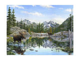 Moose Painting 2 Giclee Print by Jeff Tift