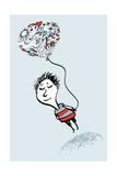 Love Balloon Giclee Print by Carla Martell