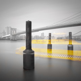 New York Water Taxi Photographic Print by Moises Levy