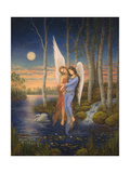 Moon Light Angel Giclee Print by Edgar Jerins