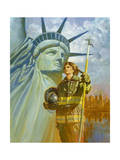 Ladies of Liberty Giclee Print by Hal Frenck