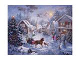Merry Christmas Giclée-trykk av Nicky Boehme