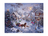 Merry Christmas Giclee Print by Nicky Boehme