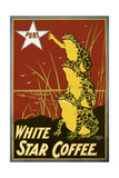 Pure White Star Coffee, Frogs Giclee Print
