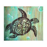 Sea Turtle Giclee Print by Karen Williams