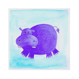 Purple Hippo Giclee Print