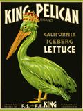 King Pelican Brand Lettuce - Giclee Baskı