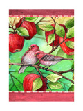 Red Finches with Apples Giclee Print by Melinda Hipsher