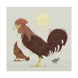 Rooster Giclee Print by Teofilo Olivieri