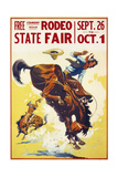 Rodeo State Fair Roan Giclee Print