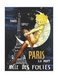 Paris Moon - Giclee Baskı