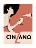 Orange Blackhat Cinzano Giclee Print