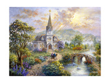 Pray for World Peace Giclee Print by Nicky Boehme