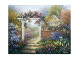 Rose Arbor Giclee Print by Nicky Boehme