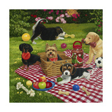 Puppy Picnic Giclee Print by William Vanderdasson