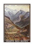 Route Des Alpes Giclee Print