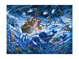 Noah's Voyage Giclee Print by Bill Bell