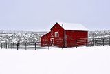 Red Barn in Winter Photographic Print by Amanda Lee Smith