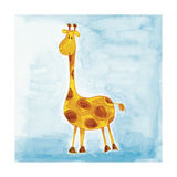 Orange Giraffe Giclee Print