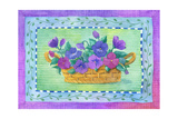 Pansy Basket Giclee Print by Fiona Stokes-Gilbert