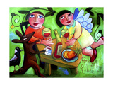 Peace Sits at My Table Giclee Print by Sara Catena