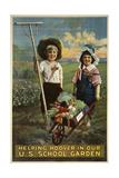 School Garden Giclee Print