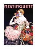 Mistinguett Checked Giclee Print