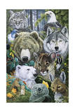 North America's Endangered Giclee Print by Jenny Newland