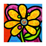 Pinwheel Daisy Yellow Giclee Print by Steven Scott